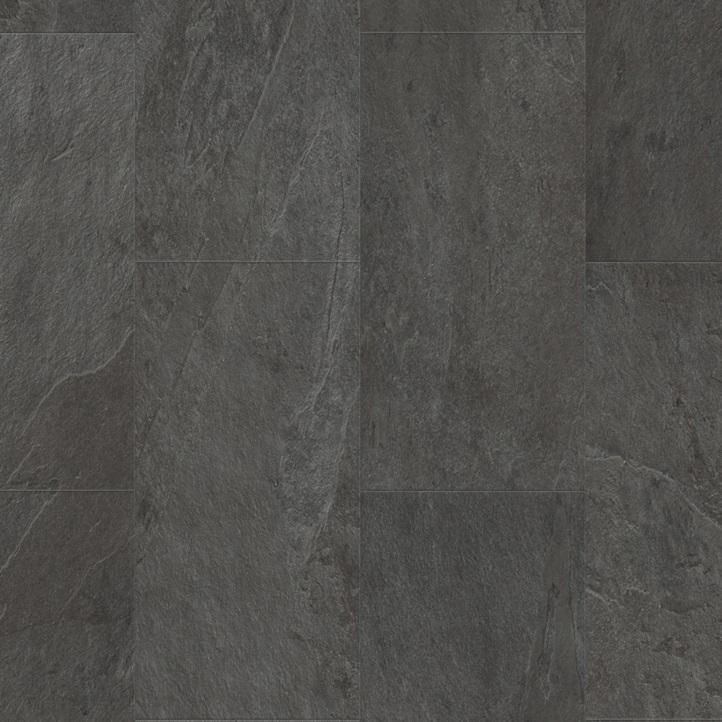 Виниловое напольное покрытие Quick-Step Ambient Click AMCL40035 Сланец чёрный