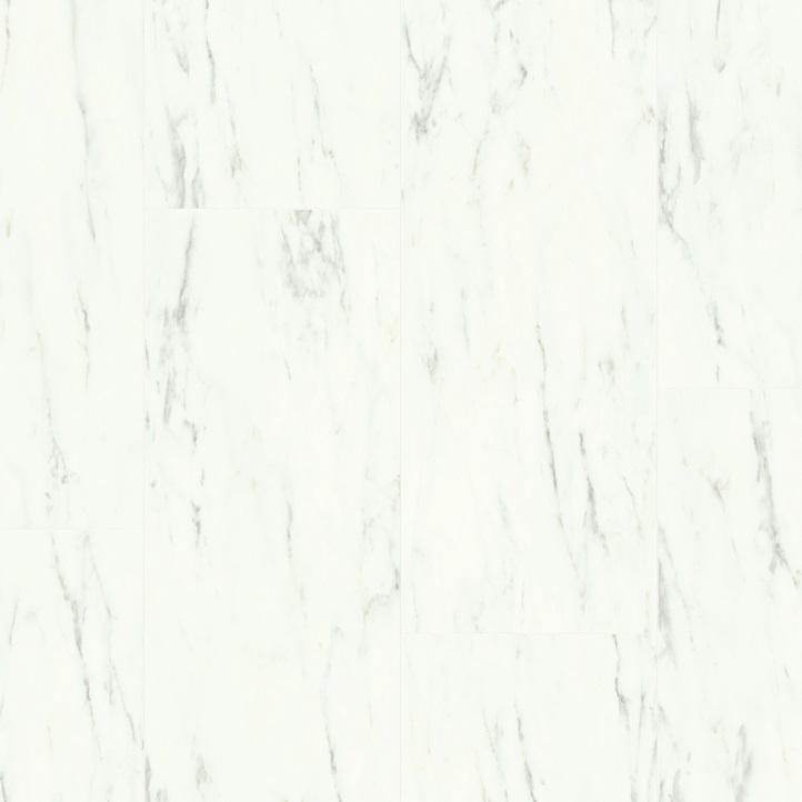 Виниловое напольное покрытие Quick-Step Ambient Click AMCL40136 Мрамор каррарский белый