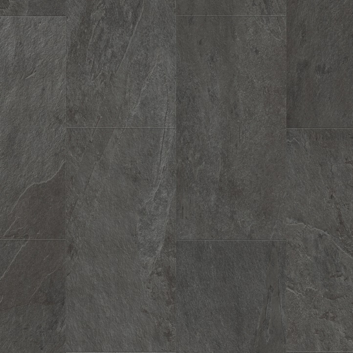 Виниловое напольное покрытие Quick-Step Ambient Glue Plus AMGP40035 Сланец чёрный